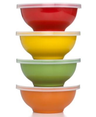 Martha Stewart Collection Prep Bowls, Set of 4 with Lids