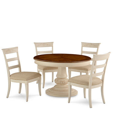 Coventry dining room furniture 5 piece set table and 4 for Macys dining room chairs