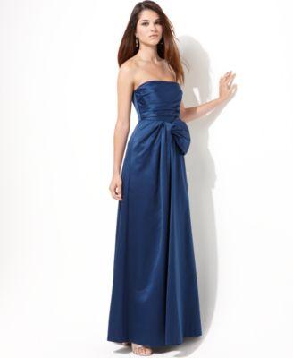 BCBGMAXAZRIA Dress, Strapless Gown