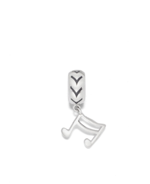 Donatella Charm, Sterling Silver Music Note Dangle Charm