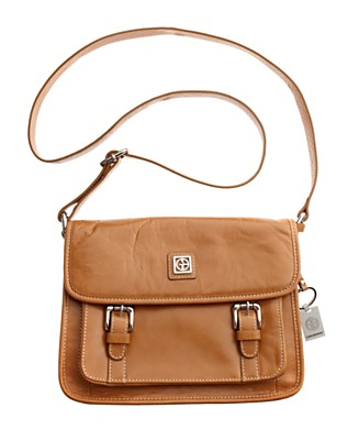 Giani Bernini - Glazed Flap Shoulder Bag from macys.com