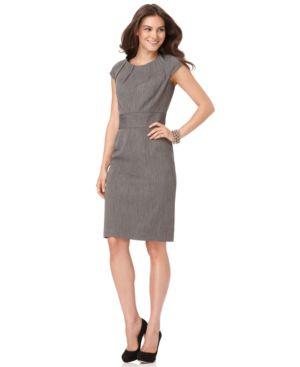 Rafaella Dress, Cap Sleeve Sheath