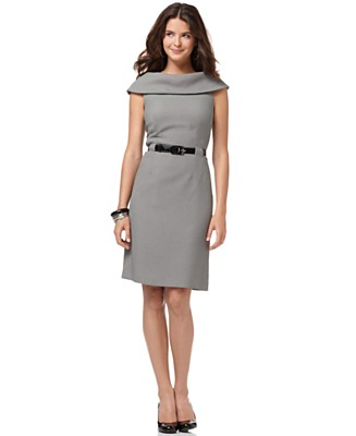 Tahari Dress, Sleeveless with Belt - Work Dresses Dresses - Women's  - Macy's
