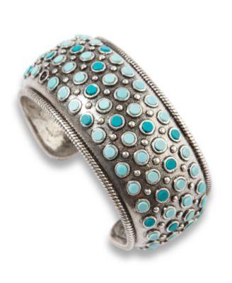 Lucky Brand Bracelet, Turquoise Bead Bangle