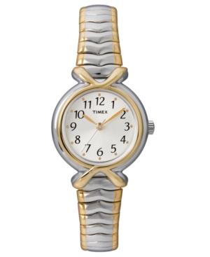 Timex Watch, Women's Two Tone Stainless Steel Bracelet T21854UM