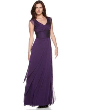 Adrianna Papell Dress, Tiered Evening Dress