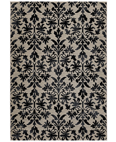 Couristan Area Rugs Everest Collection Retro Damask Grey