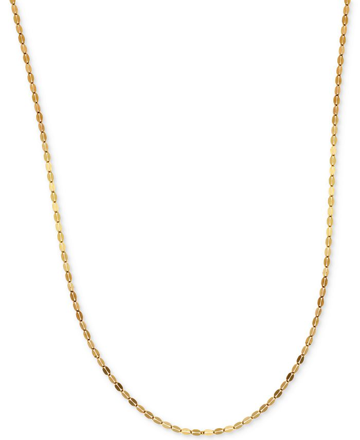 Italian Gold - Polished Fancy Link Chain Necklace in 14k Gold