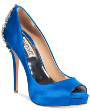 Badgley Mischka Kiara Platform Evening Pumps Women's Shoes