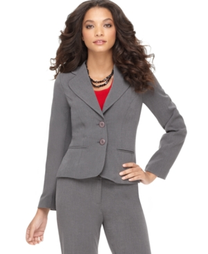 AGB Petite Blazer, Long Sleeve Double Button