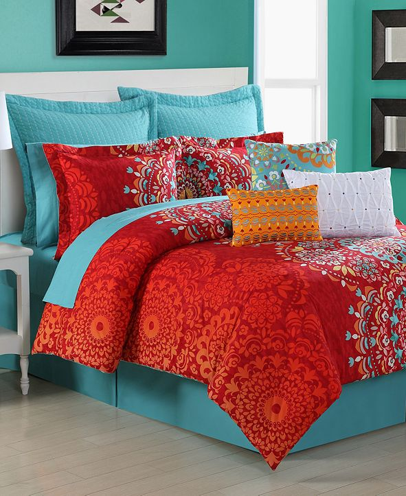 Fiesta Cozumel Reversible 4-Piece Full Comforter Set