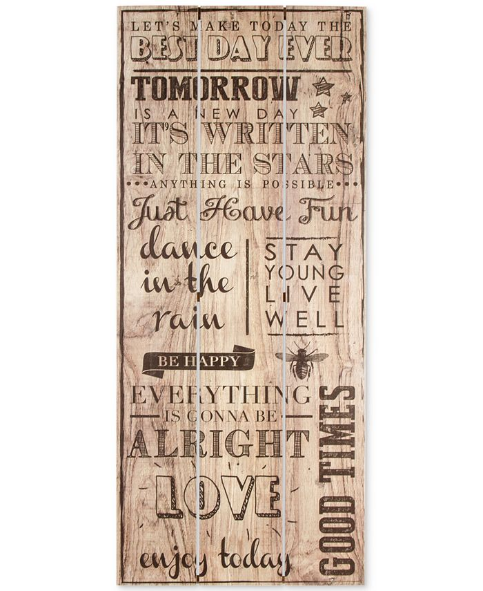 Graham & Brown - Best Day Ever Print on Wood