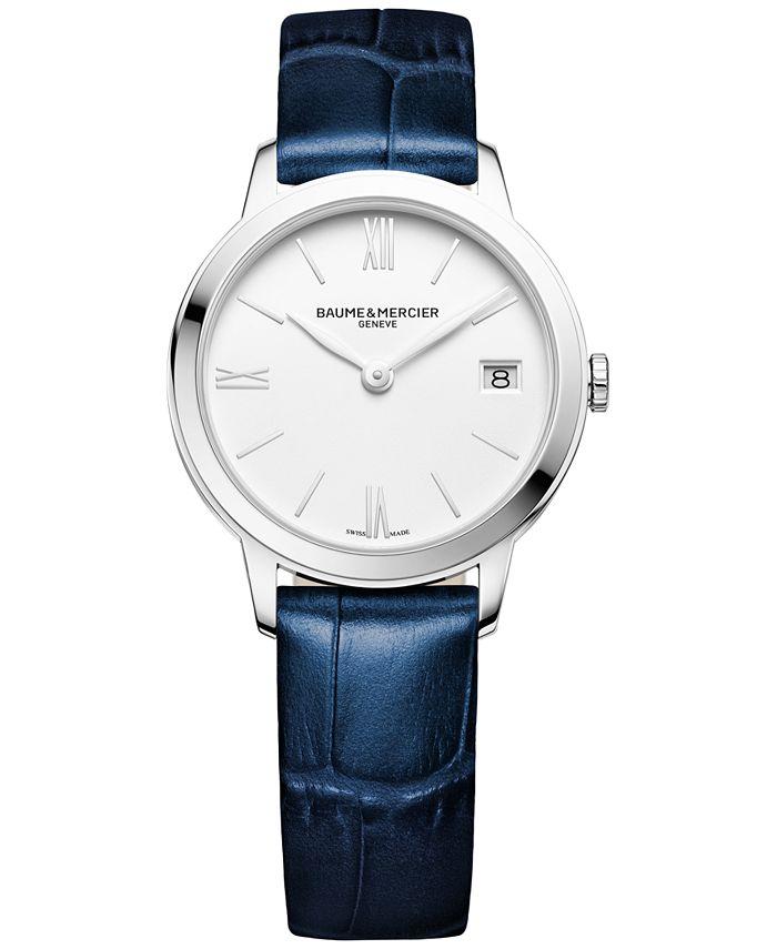 Baume & Mercier - Women's Swiss Classima Blue Leather Strap Watch 31mm M0A10353