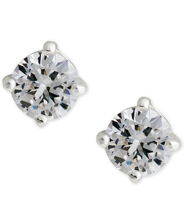 Lauren Ralph Lauren - Silver-Tone Cubic Zirconia Stud Earrings