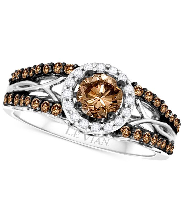 Le Vian - Diamond Openwork Ring (9/10 ct. t.w.) in 14k White Gold
