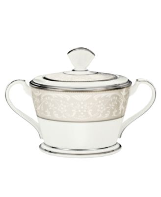 "Noritake ""Silver Palace"" Sugar Bowl with Lid"
