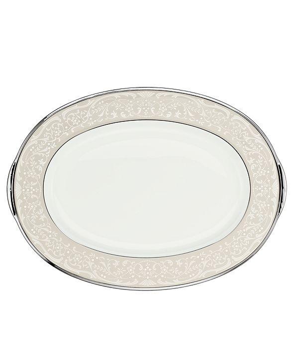 "Noritake ""Silver Palace"" Large Oval Platter"