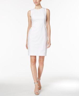 Calvin Klein Stretch Canvas Sheath Dress
