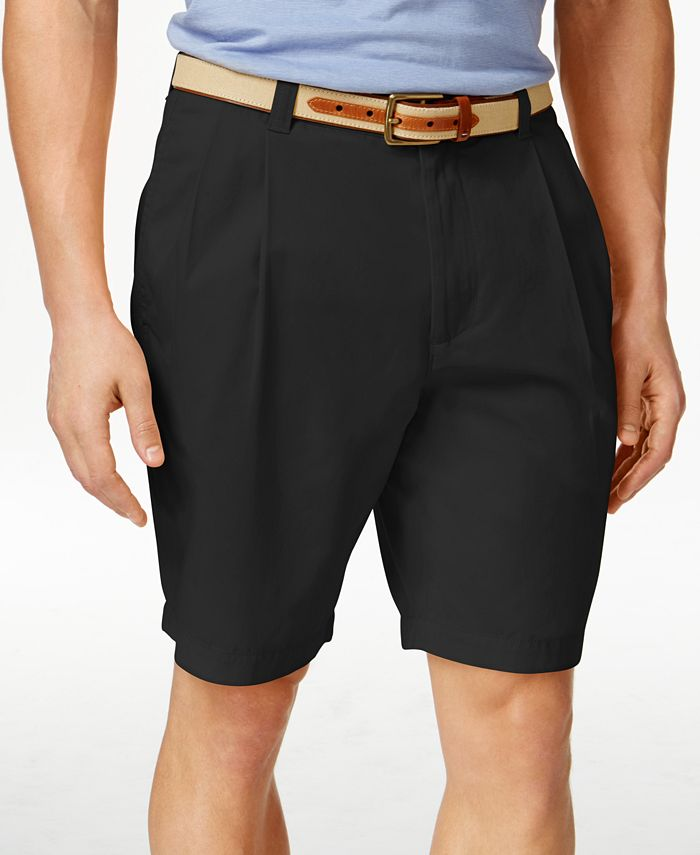 Club Room - Men's Double-Pleated Cotton Shorts