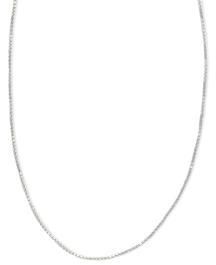 Macy's - 14k White Gold Necklace, Box Chain