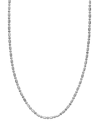Necklace, Sterling Silver Dot Dash Chain 20