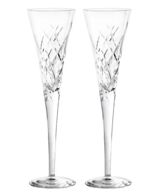 Vera Wang Wedgwood Set of 2 Duchesse Encore Clear Toasting Flutes