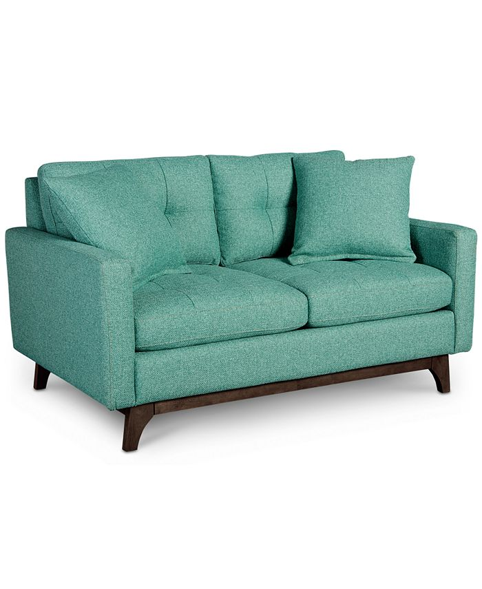 Furniture - Nari Tufted Back Loveseat with 2 Toss Pillows, Only at Macy's