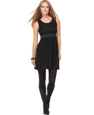 Spense New Lace Sleeveless Scoop Neck Little Black Dress Petites 8P