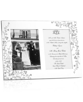 Martha Stewart Collection Picture Frame, Silver Plated Trousseau Double Invitation Frame