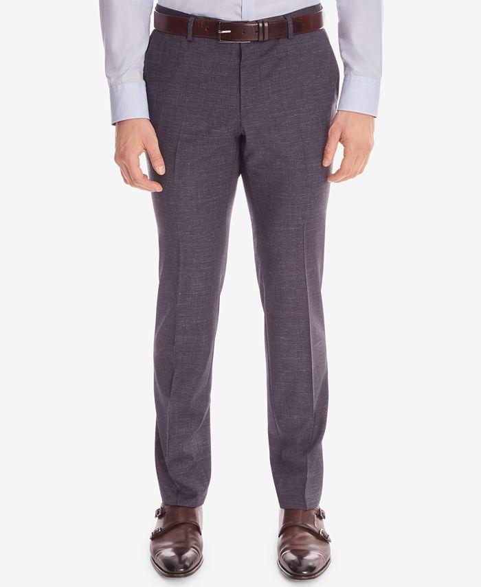 Hugo Boss - Men's Slim-Fit Wool Dress Pants