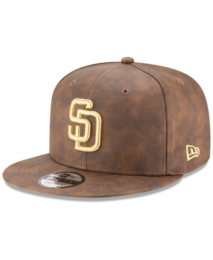 New Era - Butter So Soft Faux-Leather 9FIFTY Snapback Cap