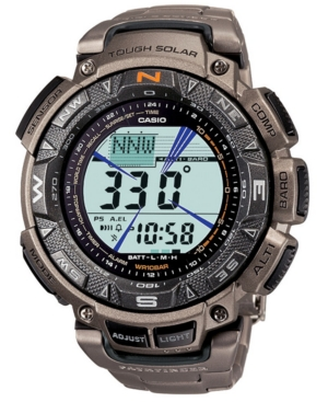 Casio Digital Lcd Pathfinder Titanium Bracelet Watch PAG240T-7