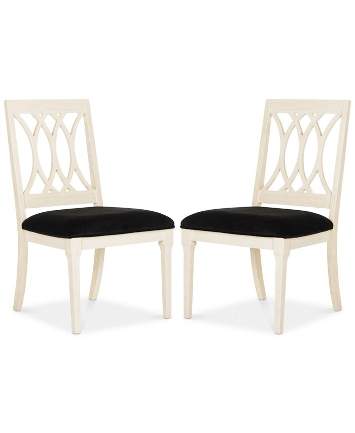 Safavieh - Gitanna Set of 2 Dining Chairs, Quick Ship