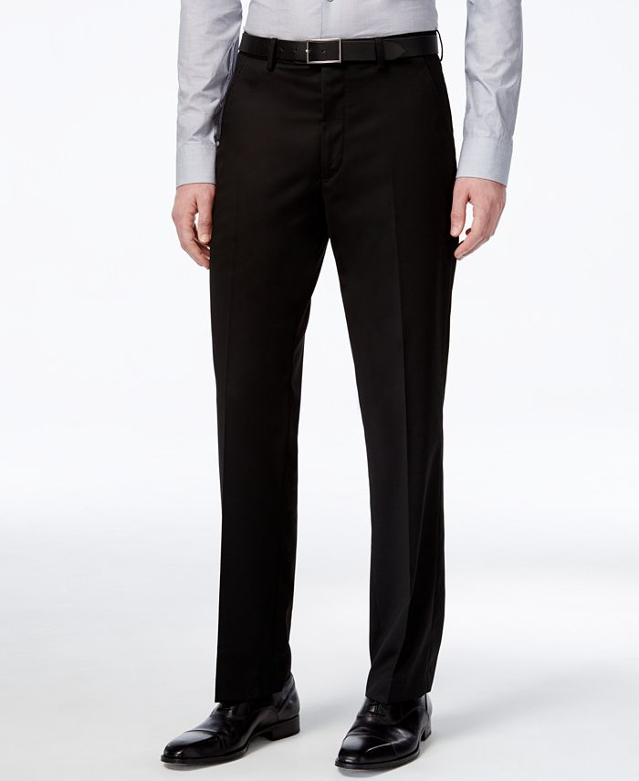 Alfani - Medium Blue PV Solid Slim-Fit Pants