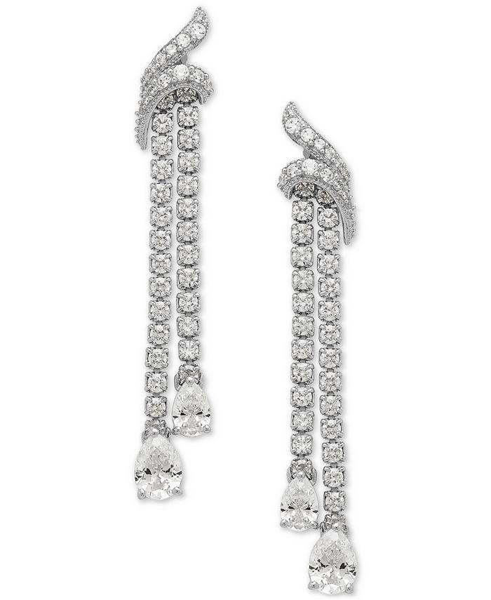 Macy's - Swarovski Zirconia Drop Earrings in Sterling Silver
