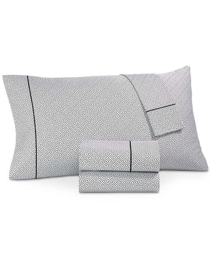 Hotel Collection - Greek Key Pima Cotton 525-Thread Count 3-Pc. Twin XL Sheet Set