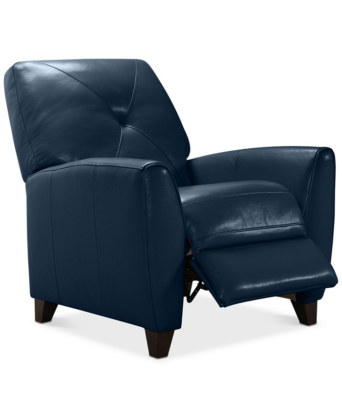 Furniture - Myia Leather Pushback Recliner, Only at Macy's