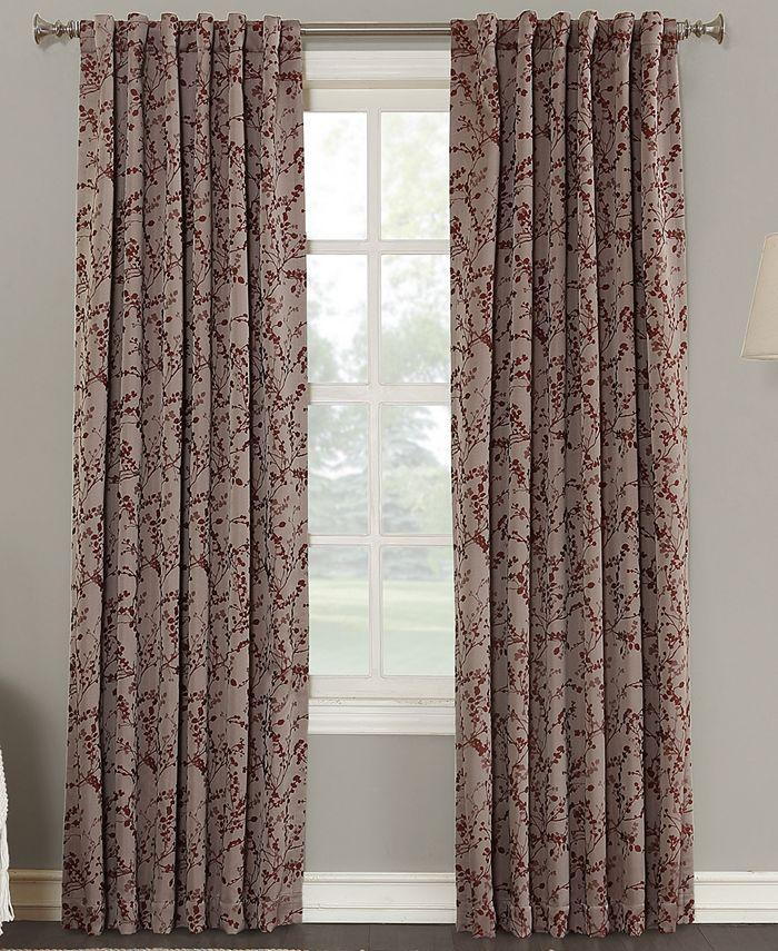 "Sun Zero - Kalanie Floral 50"" x 84"" Blackout Lined Back-Tab Curtain Panel"