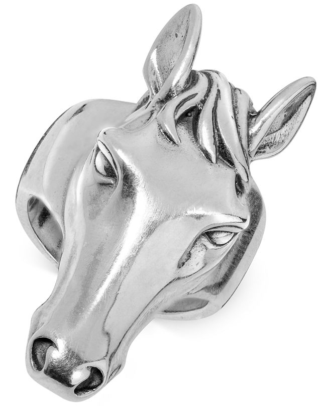 American West Horse's Head Ring in Sterling Silver