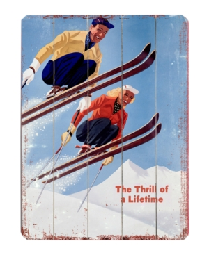 ArteHouse Wall Art, Ski Jumpers Wooden Sign