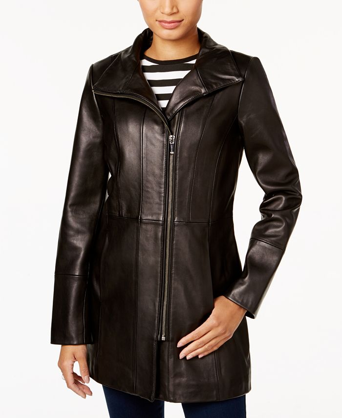 Cole Haan - Asymmetrical Leather Jacket
