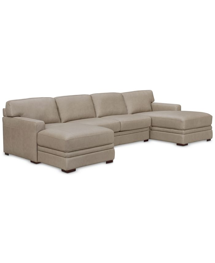 Furniture - Avenell 3-Pc. Sectional with Double Chaise & Armless Loveseat, Only at Macy's