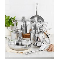 Deals on Tools of the Trade Stainless Steel 13-Pc. Cookware Set
