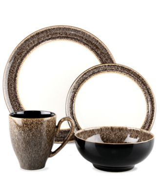 Denby Dinnerware, Praline 4 Piece Place Setting