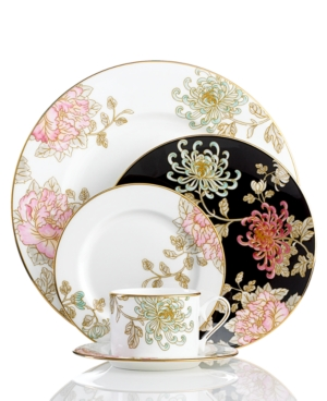 Marchesa by Lenox Dinnerware, Painted Camellia 5 Piece Place Setting