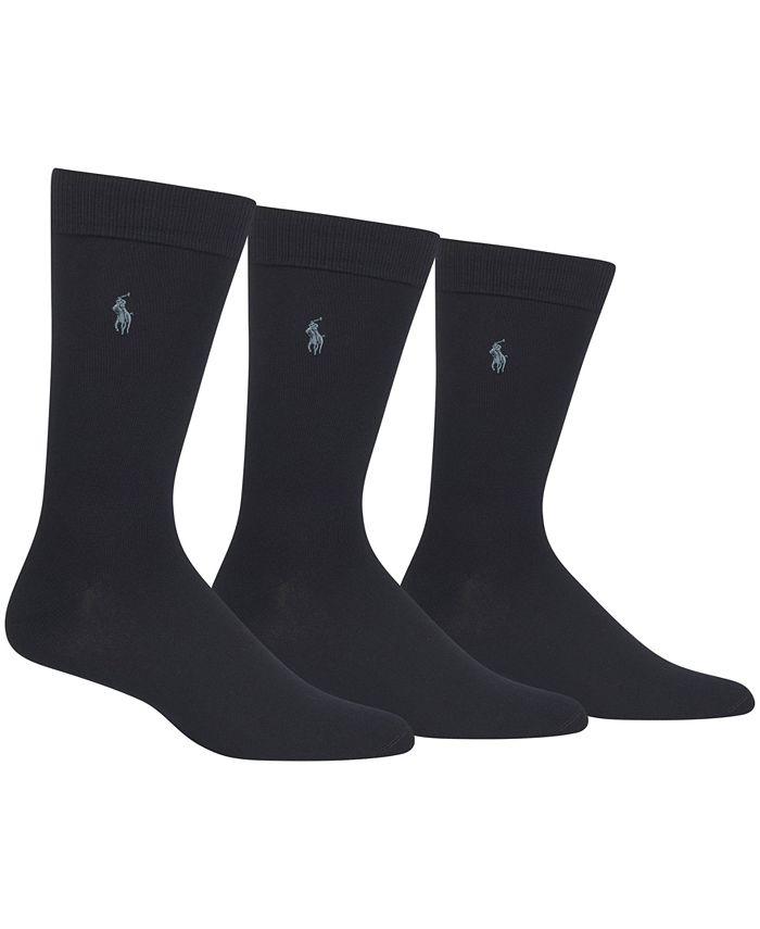 Polo Ralph Lauren - 3 Pack Supersoft Extended Size Dress Socks