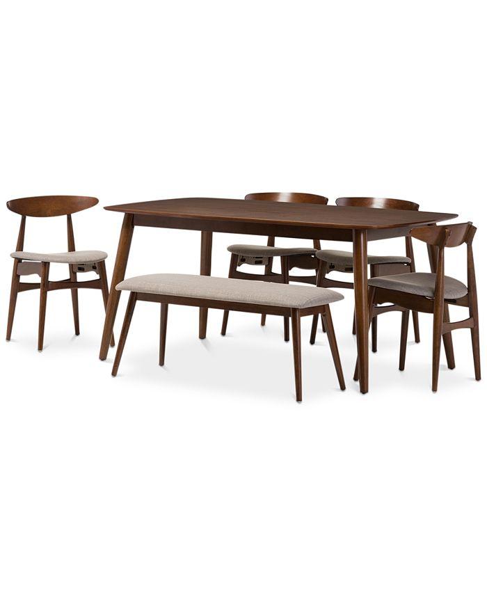 Furniture - Flora 6-Pc. Dining Set, Quick Ship