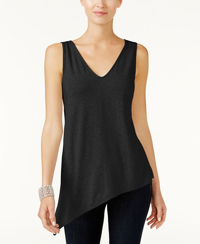 INC International Concepts - Petite Asymmetrical Tank Top