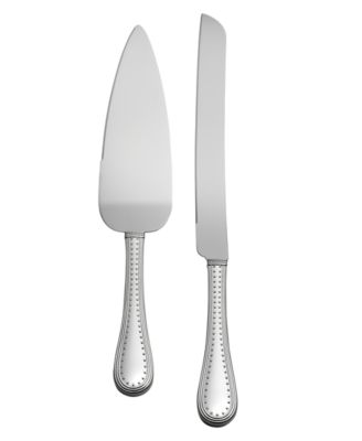 Vera Wang Wedgwood Serveware, Grosgrain Cake Knife and Server