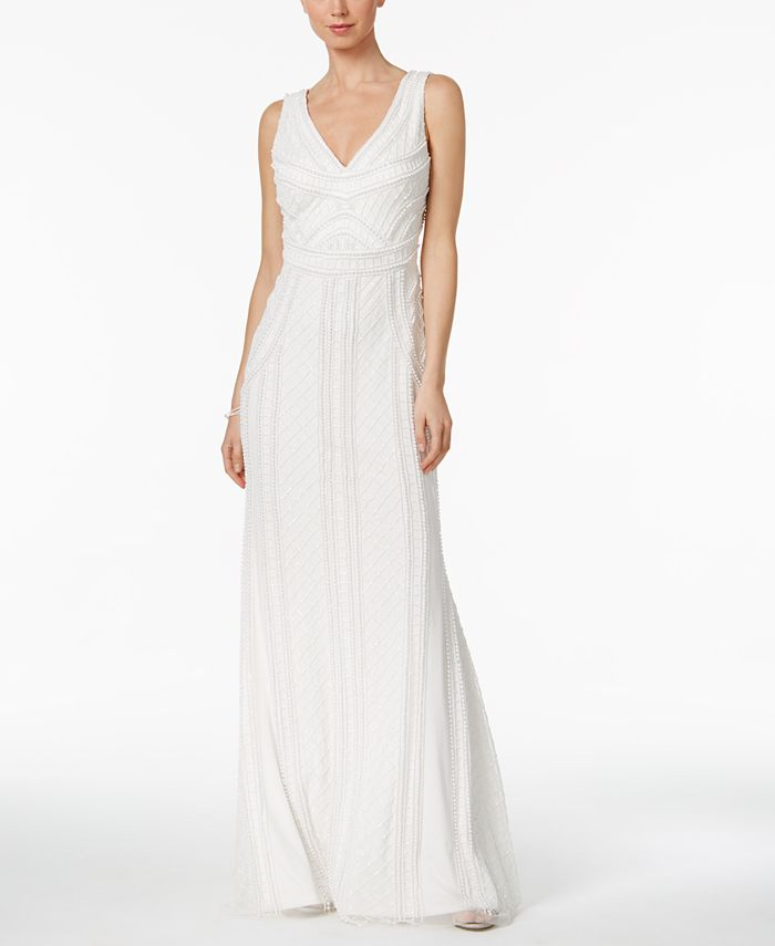 Adrianna Papell - Scoop-Back Mermaid Gown